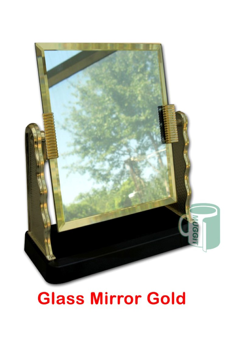 Liza 39 s creations kodak express glass mirror gold for Glass and mirror company