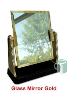 Glass Mirror Gold