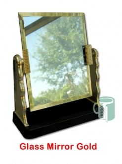 Glass Mirror Gold